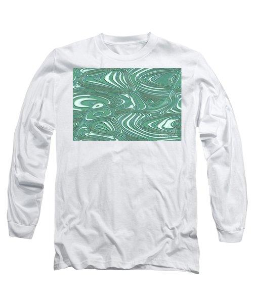 Long Sleeve T-Shirt featuring the photograph Digital Abstract by Marsha Heiken