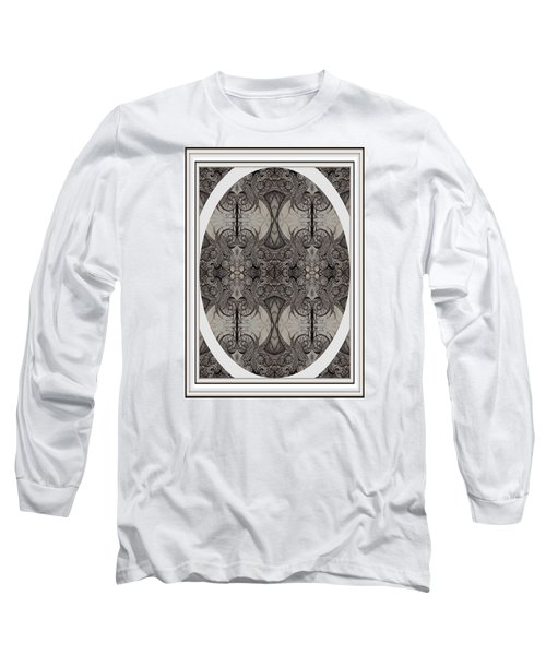Digitized Ballpoint Image Twenty One Long Sleeve T-Shirt