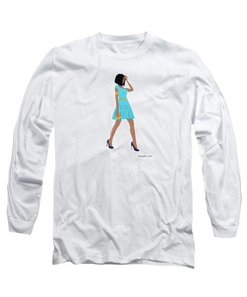 Long Sleeve T-Shirt featuring the digital art Dima by Nancy Levan
