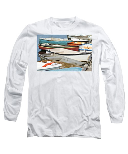 Dinghys At Bearskin Neck Long Sleeve T-Shirt