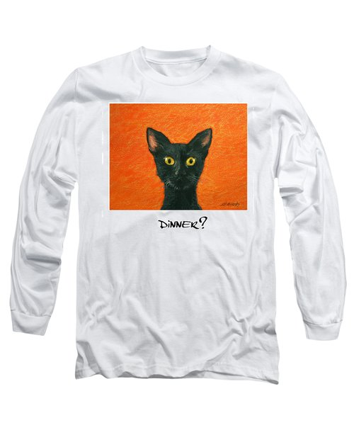 Dinner? 2 Long Sleeve T-Shirt by Marna Edwards Flavell