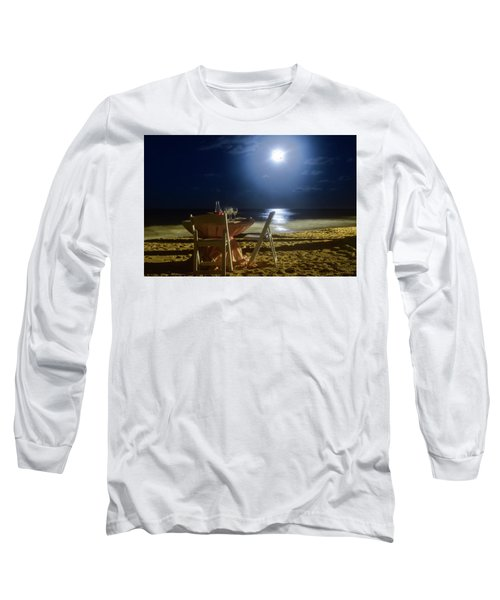 Dinner For Two In The Moonlight Long Sleeve T-Shirt