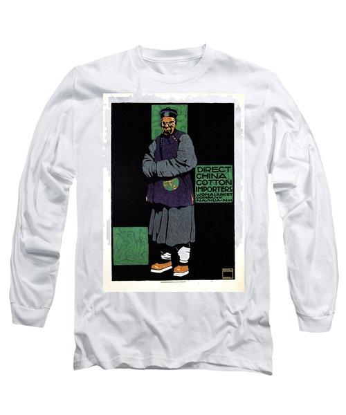 Direct China Cotton Importer - Wonalancet Company - Vintage Advertising Poster Long Sleeve T-Shirt
