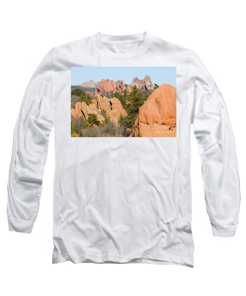 Distant Garden Of The Gods From Red Rock Canyon Long Sleeve T-Shirt