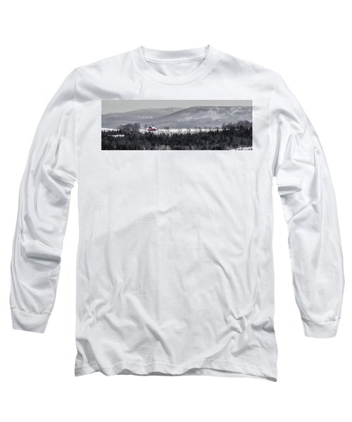 Distant Red Barn Long Sleeve T-Shirt
