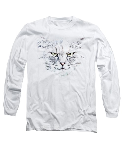Disturbed Cat Long Sleeve T-Shirt by Everet Regal