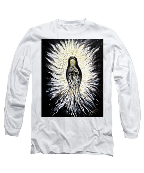 Divine Mother Black And White Long Sleeve T-Shirt