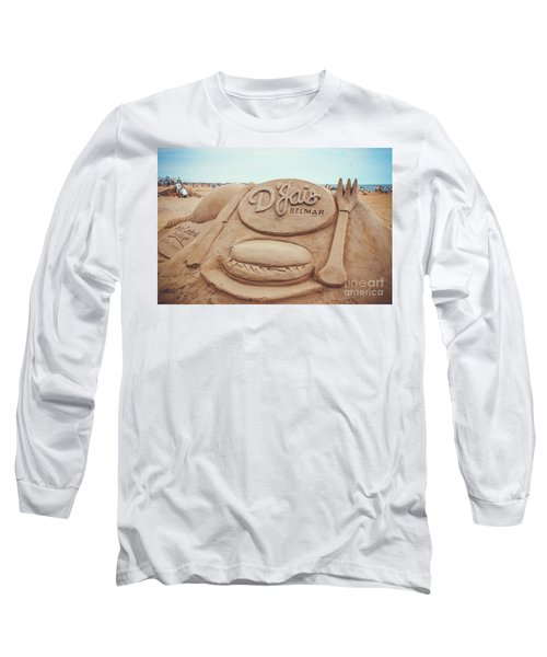 Long Sleeve T-Shirt featuring the photograph D'jais Belmar Sandcastle by Colleen Kammerer