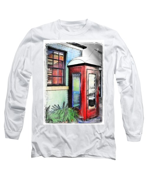 Do-00091 Telephone Booth In Morpeth Long Sleeve T-Shirt by Digital Oil