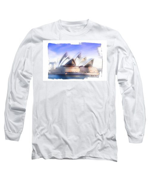 Long Sleeve T-Shirt featuring the photograph Do-00109 Opera House by Digital Oil