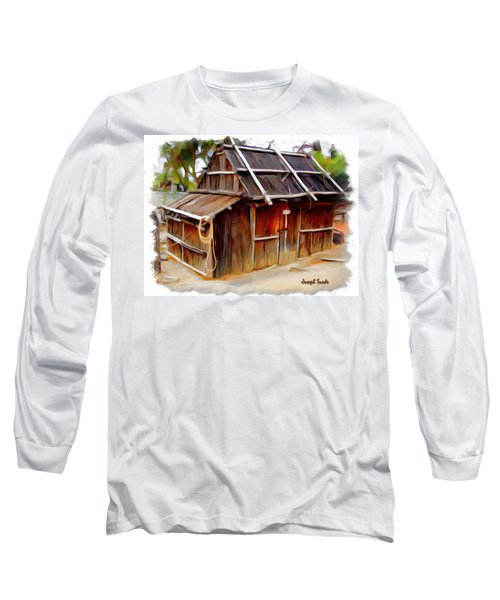 Long Sleeve T-Shirt featuring the photograph Do-00129 Old Cottage by Digital Oil