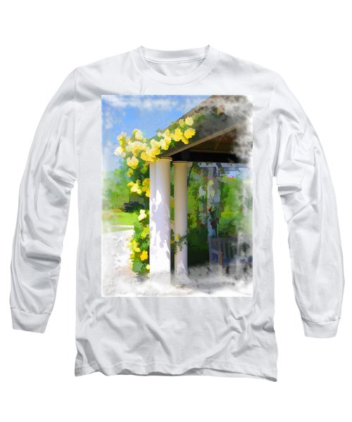 Long Sleeve T-Shirt featuring the photograph Do-00137 Yellow Roses by Digital Oil