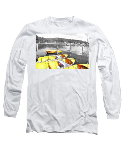 Do-00279 Yellow Boats Long Sleeve T-Shirt by Digital Oil