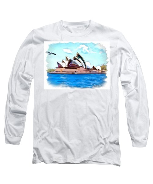 Long Sleeve T-Shirt featuring the photograph Do-00293 Sydney Opera House by Digital Oil