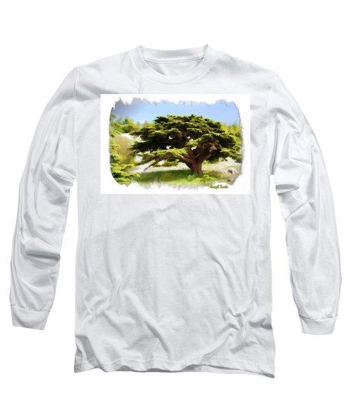 Long Sleeve T-Shirt featuring the photograph Do-00319 Cedar Tree by Digital Oil