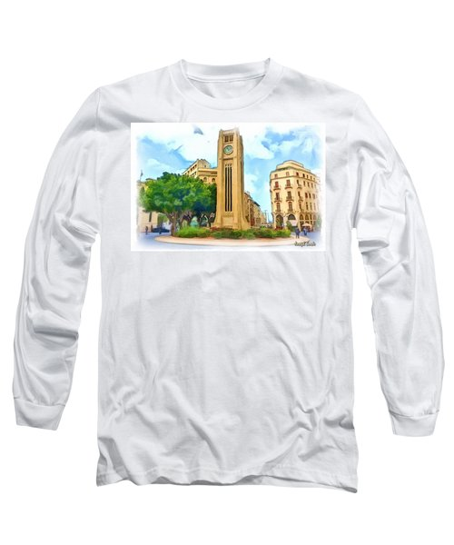 Do-00358 The Clock Tower Long Sleeve T-Shirt by Digital Oil