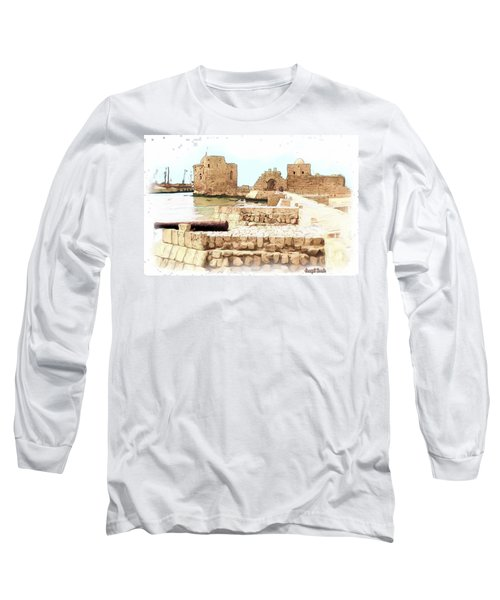 Do-00423 Citadel Of Sidon Long Sleeve T-Shirt by Digital Oil