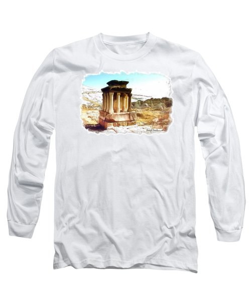 Do-00432 The Temple Of Faqra Long Sleeve T-Shirt by Digital Oil