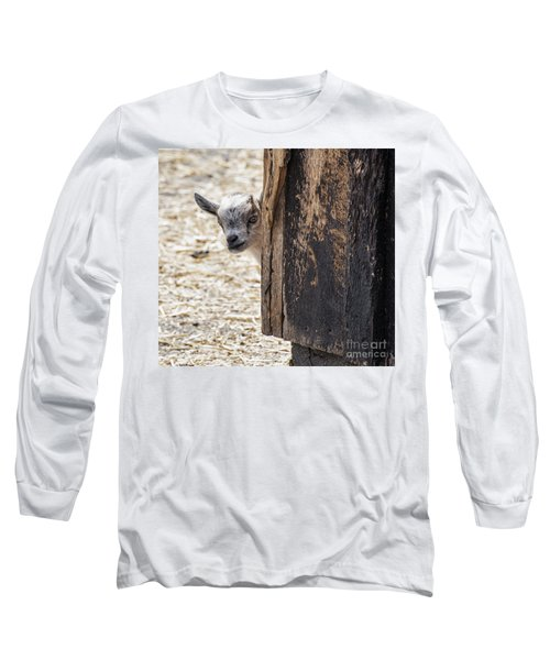 Do You Think Mom Saw Me Long Sleeve T-Shirt by Judy Wolinsky