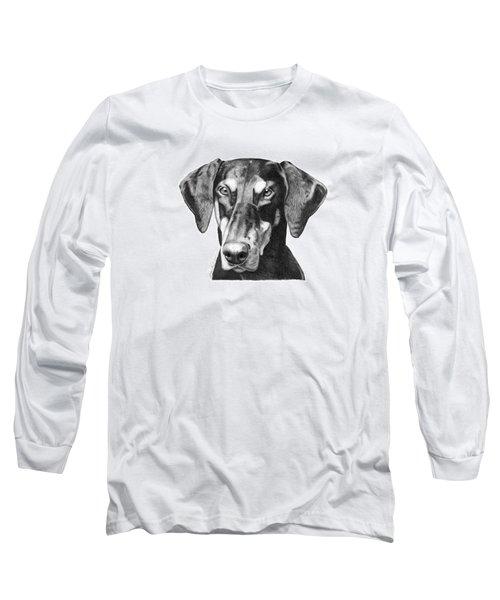 Doberman Long Sleeve T-Shirt by Abbey Noelle
