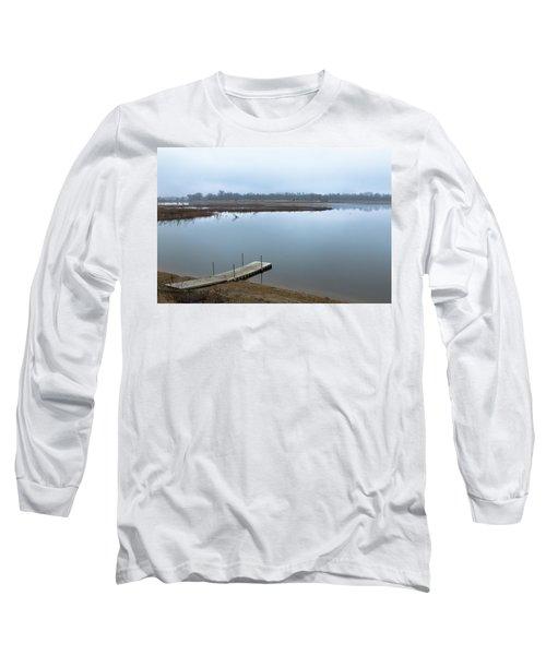 Dock On A Serene Lake Long Sleeve T-Shirt