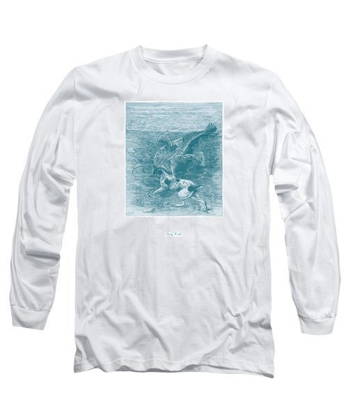Long Sleeve T-Shirt featuring the painting Dog Fish by David Davies