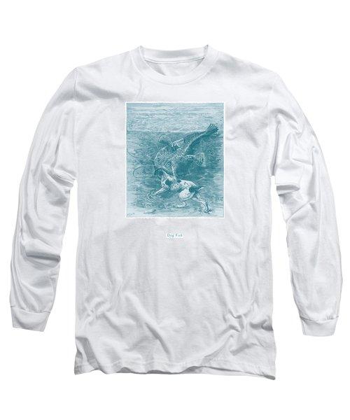 Dog Fish Long Sleeve T-Shirt by David Davies