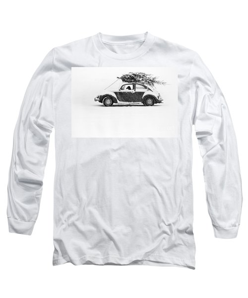 Dog In Car  Long Sleeve T-Shirt by Ulrike Welsch and Photo Researchers