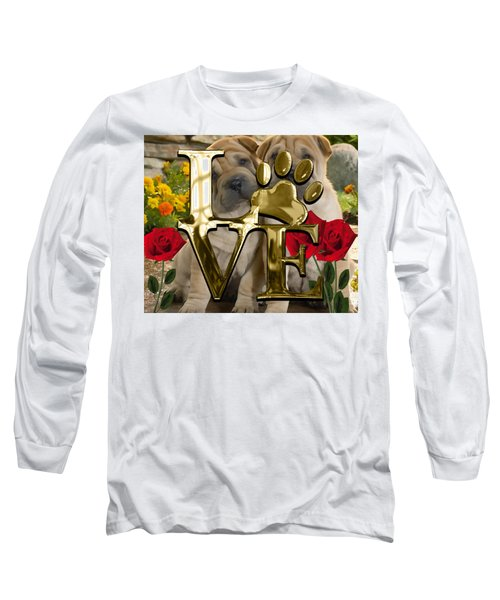 Dog Lover Collection Shar Pei Dogs Long Sleeve T-Shirt by Marvin Blaine