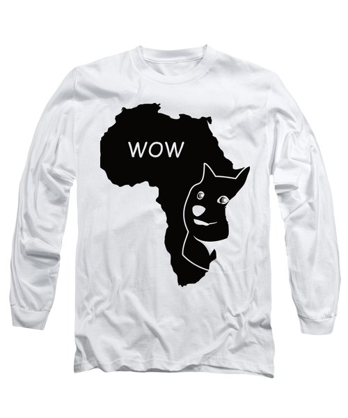 Dogecoin In Africa Long Sleeve T-Shirt by Michael Jordan