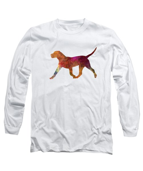 Dogo Canario In Watercolor Long Sleeve T-Shirt by Pablo Romero