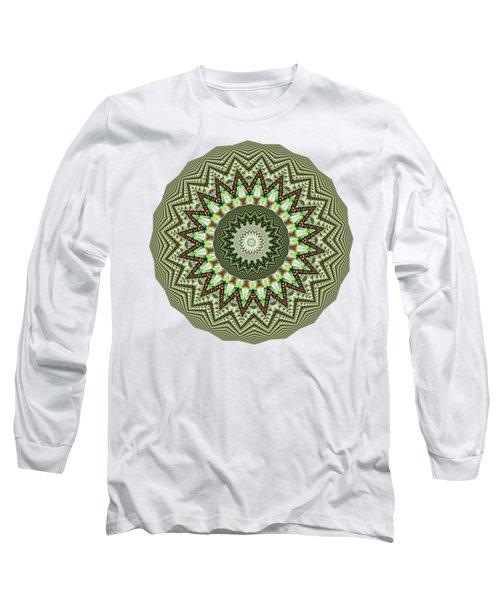 Dome Of Chains Mandala By Kaye Menner Long Sleeve T-Shirt