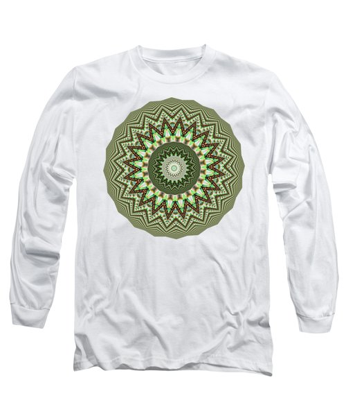 Dome Of Chains Mandala By Kaye Menner Long Sleeve T-Shirt