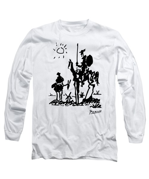 Don Quixote -  1955 Artwork Reproduction Long Sleeve T-Shirt