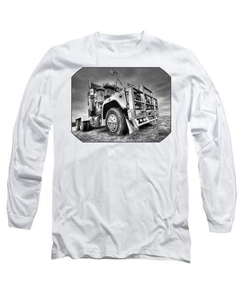 Done Hauling - Black And White Long Sleeve T-Shirt