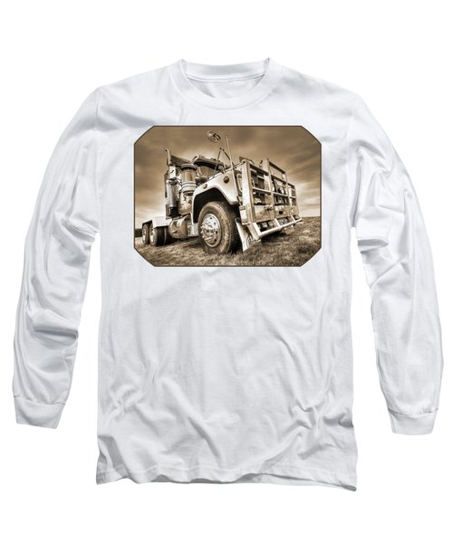 Done Hauling - Sepia Long Sleeve T-Shirt