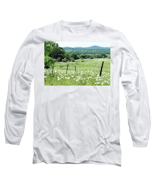 Long Sleeve T-Shirt featuring the photograph Done In White by Joe Jake Pratt