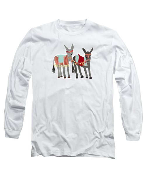 Donkeys Long Sleeve T-Shirt by Isoebl Barber