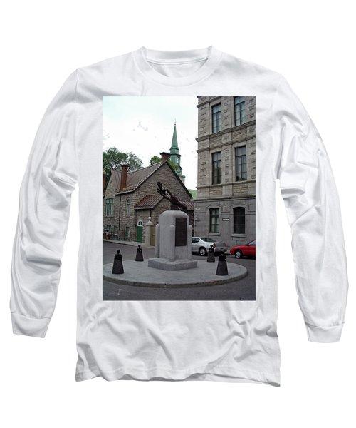 Long Sleeve T-Shirt featuring the photograph Donnacona And Du Parloir by John Schneider