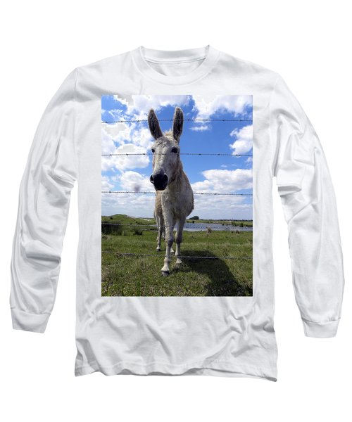 Long Sleeve T-Shirt featuring the photograph Don't Fence Me In 000  by Chris Mercer