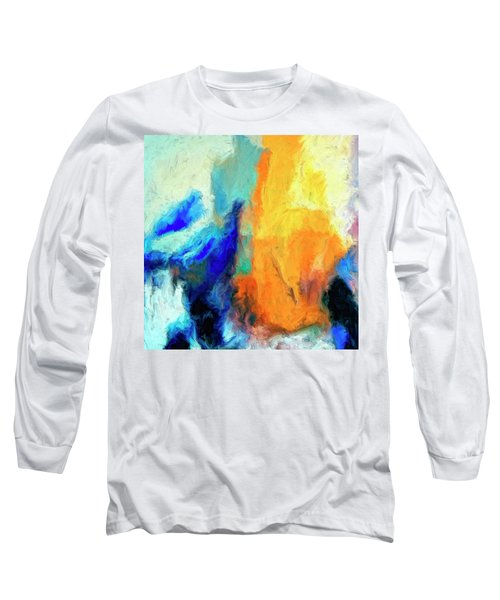 Long Sleeve T-Shirt featuring the painting Don't Look Down by Dominic Piperata