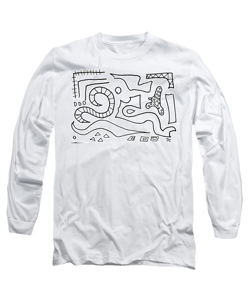 Doodle Long Sleeve T-Shirt by Patricia Cleasby