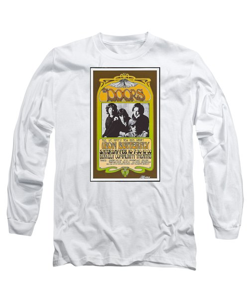 Doors/iron Butterfly Concert Poster Long Sleeve T-Shirt by Allen Beilschmidt