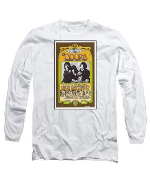 Doors/iron Butterfly Concert Poster Long Sleeve T-Shirt