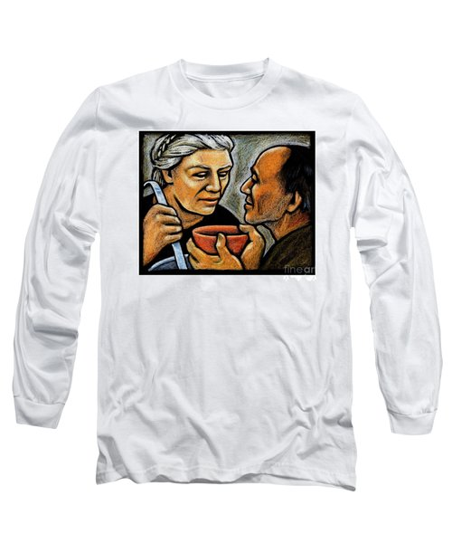 Dorothy Day Feeding The Hungry - Jlddf Long Sleeve T-Shirt