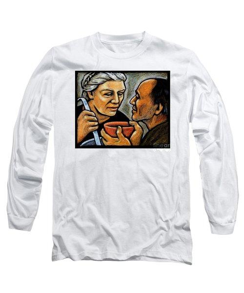 Dorothy Day Feeding The Hungry - Jlddf Long Sleeve T-Shirt