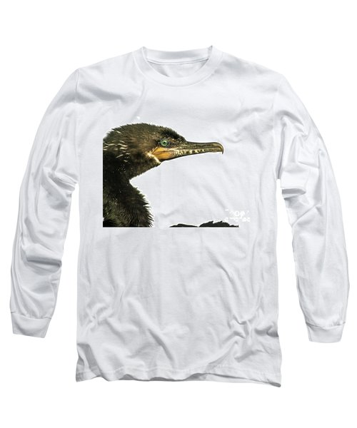 Double-crested Cormorant  Long Sleeve T-Shirt by Robert Frederick
