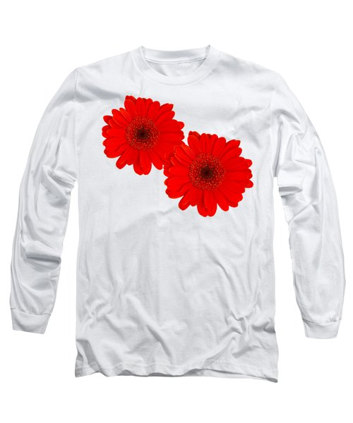 Double Gerbera Long Sleeve T-Shirt by Scott Carruthers