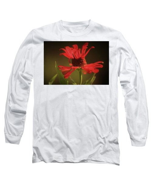 Long Sleeve T-Shirt featuring the photograph Double Petals by Donna G Smith