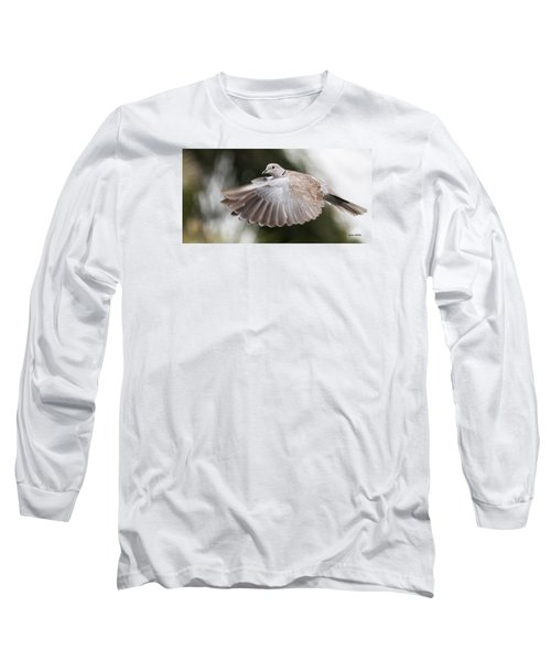 Long Sleeve T-Shirt featuring the photograph Dove Flight by Don Durfee